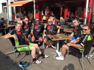 Lunch with the Poppy Ride Team